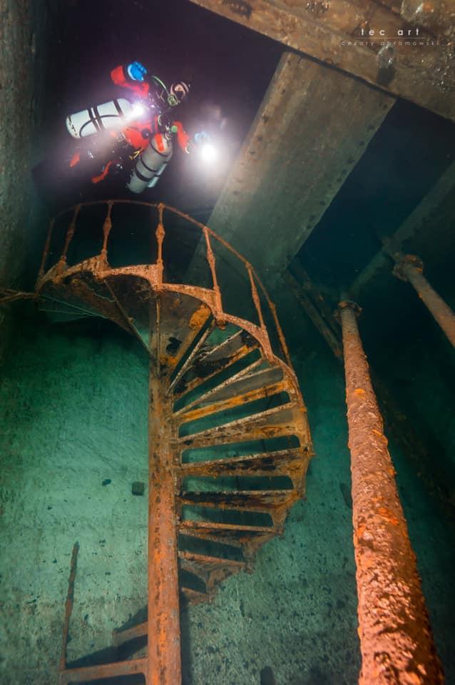 Kőbányai pincrendszer csigalépcső